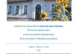 Výročí 110 let Základní školy v Pohledci