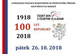 Český den s českými vlajkami