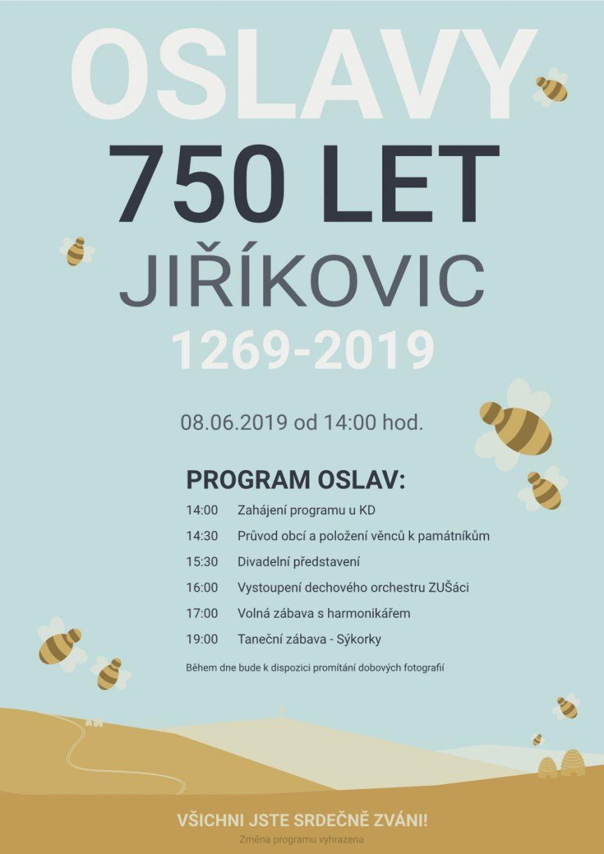 OSLAVY 750 LET JIŘÍKOVIC 1269-2019