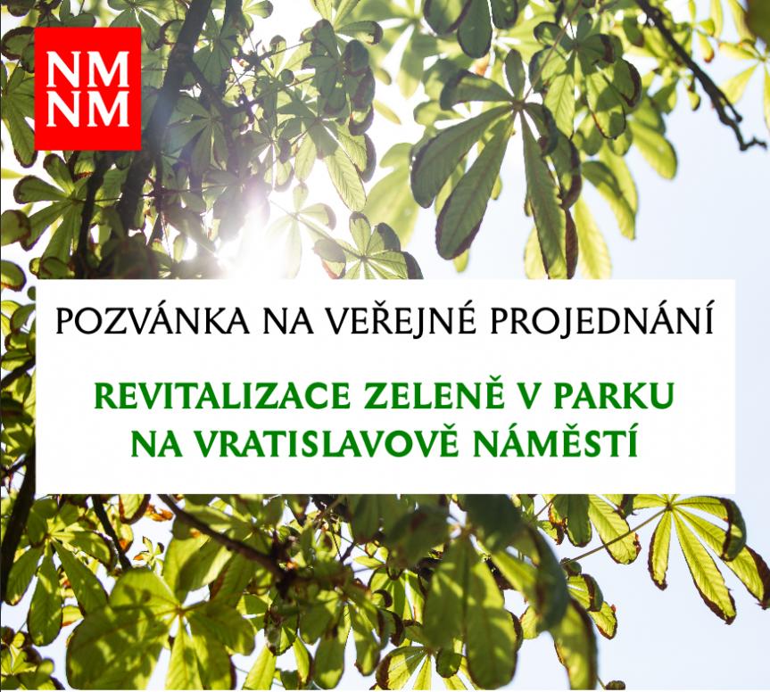 Veřejné projednání revitalizace zeleně v praku na Vratislavově náměstí