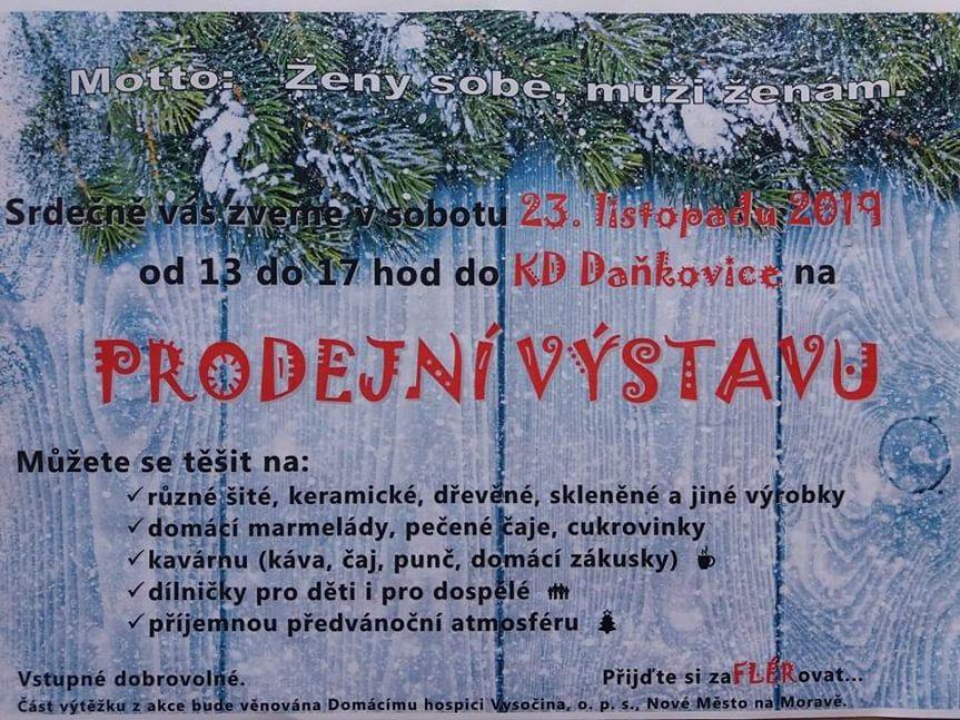 Prodejní výstava ručně vyráběných výrobků v Daňkovicích