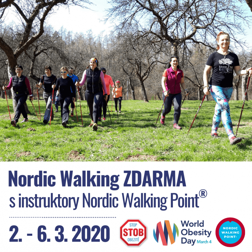 Světový den obezity 4. 3. 2020 – Lekce Nordic Walking ZDARMA
